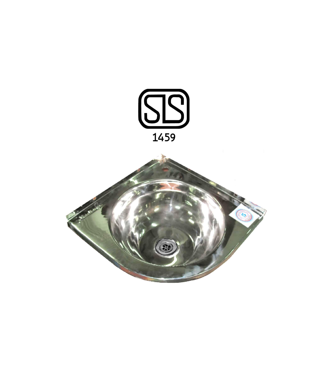 Single Bowl Stainless Steel Kitchen Sink in Sri Lanka 15 x 15IN (Bowl Only) Corner