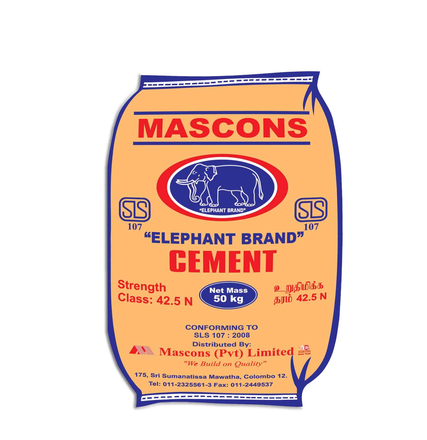 Mascons Elephant Brand Cement in Sri Lanka