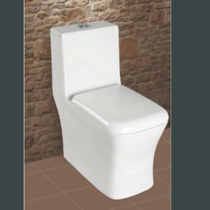 Leo one Piece Toilet with seat Cover & fittings in Sri Lanka